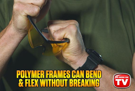 Polymer frames can bend & flex without breaking